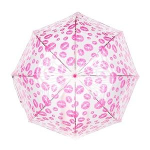 Betsey Johnson Lip Umbrella Clear Bubble Style XO